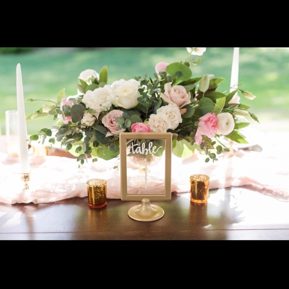 Other | Gold Table Numbers For Wedding Or Event | Poshmark